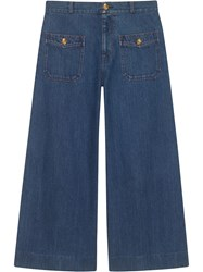 Gucci Denim Wide Leg Pant Blue