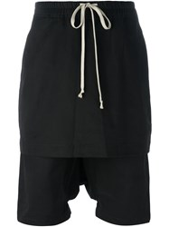 Rick Owens Drkshdw Drop Crotch Drawstring Shorts Black