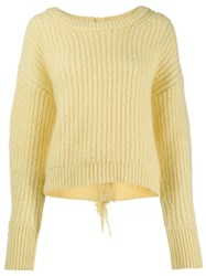 Kenzo Scoop Neck Knitted Jumper Yellow