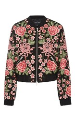 Needle And Thread Floral Embroidered Rose Bomber Jacket