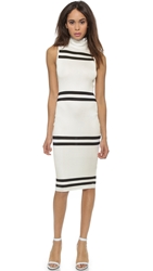 Cameo Pyramids Dress Ivory Black
