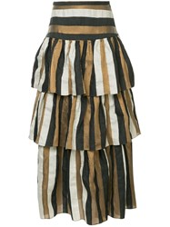 Ginger And Smart Heritage Striped Skirt Multicolour