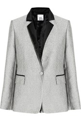 Iris And Ink Metallic Jacquard Blazer