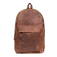 Mahi Leather Classic Backpack Rucksack In Vintage Brown