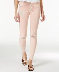Hudson Jeans Nico Ripped Colored Wash Skinny Sunkissed Pink Destructed