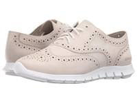 Cole Haan Zerogrand Wing Oxford Ivory Suede Women's Shoes Tan