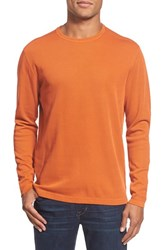 Men's Agave 'Silas' Long Sleeve Ribbed Crewneck T Shirt Rooibos Tea