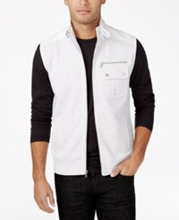 Inc International Concepts Men's Robert Belted Collar Vest Only At Macy's Whispy Grey Heather