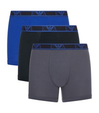 Emporio Armani Stretch Cotton Boxer Briefs Blue