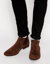 New Look Faux Suede Chelsea Boot Chocolate