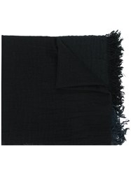 Snobby Sheep Check Knitted Scarf Silk Cashmere Wool Black