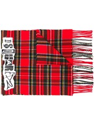 Dsquared2 Logo Patch Tartan Scarf