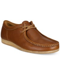 Clarks Men's Wallabee Step Moccasin Toe Oxfords Men's Shoes Tan Leather