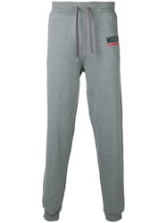 Moschino Side Logo Track Pants Grey