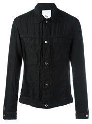 Lost And Found Rooms Patch Pockets Denim Jacket Black