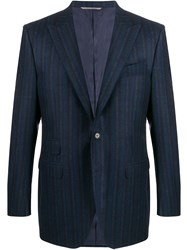 Canali Striped Fitted Blazer 60