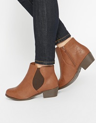 New Look Wide Fit Ankle Boots Tan