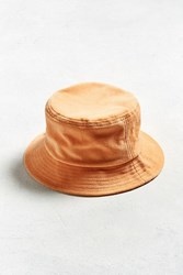 Urban Outfitters Uo Velour Bucket Hat Peach