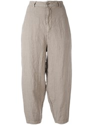 Transit Cropped Trousers Brown