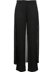 Adam By Adam Lippes Pleated Skirt Detail Tuxedo Trousers Black