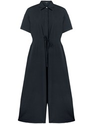 Theory Wide Leg Jumpsuit Blue