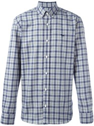 Maison Kitsune Plaid Button Down Shirt Blue