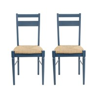Heal's Pinner Pair Of Dining Chairs Atlantic Blue