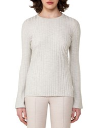 Akris Ribbed Cashmere Blend Sweater Gray