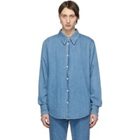 Calvin Klein 205W39nyc Blue Denim 'Jaws' Shirt
