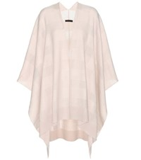 The Row Tapetto Cashmere And Silk Cape Beige
