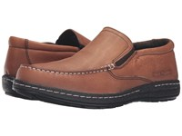 Hush Puppies Vicar Victory Dark Brown Leather Men's Slip On Shoes