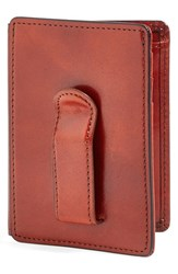 Bosca Men's 'Old Leather' Front Pocket Id Wallet Brown Cognac