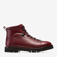 Bally Men's Calf Leather Hiking Boot In Dark Red
