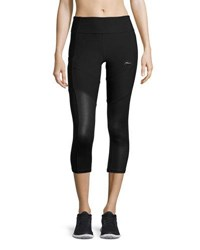 X By Gottex Colorblock Capri Performance Leggings Black Pattern