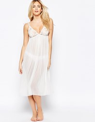 Vila Sheer Slip Dress Cream