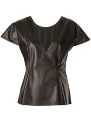 Drome Cap Sleeved Leather Top 60