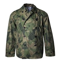 Lords Of Harlech Fritz Jacket In Olive Camo Green