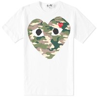 Comme Des Garcons Play Heart Tee White
