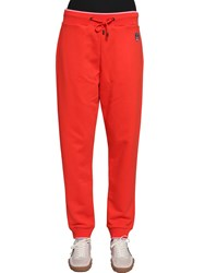 Kenzo Tiger Patch Cotton Sweatpants Orange