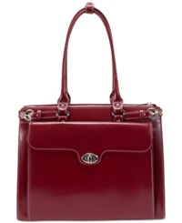 Mcklein Winnetka Briefcase Red