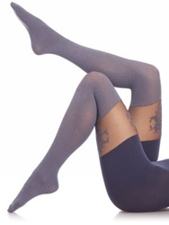 Spanx Floral Lace Over The Knee Tights Grey