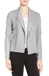 Halogenr Women's Halogen Zip Front Funnel Neck Jacket Grey Heather