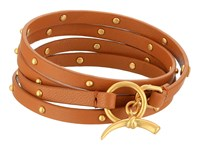 Tory Burch Studded Multi Wrap Bracelet Bark Vintage Gold
