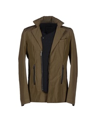 Karl By Karl Lagerfeld Jackets Military Green