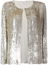 P.A.R.O.S.H. Sequined Cardigan Metallic