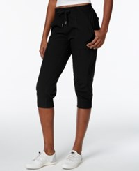 Calvin Klein Performance Strech Woven Capri Pants Black