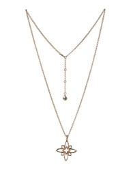 Bcbgeneration Butter Flower 12K Yellow Goldplated Pendant Necklace