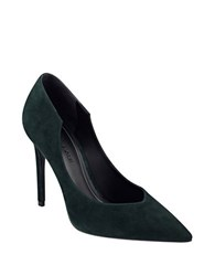 Kendall Kylie Abi Pointed Toe Suede Pumps Green