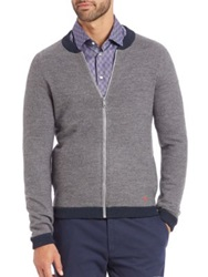 Strellson Damian Wool Zip Cardigan Grey