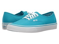 Vans Authentic Neon Splatter Neon Blue True White Skate Shoes
